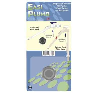Easi Plumb Diaphragm Washer for Traditional Plastic Float Valve   EPDWI