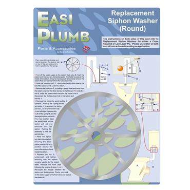 """Easi Plumb 5"""" Round Replacement Siphon Washer 
