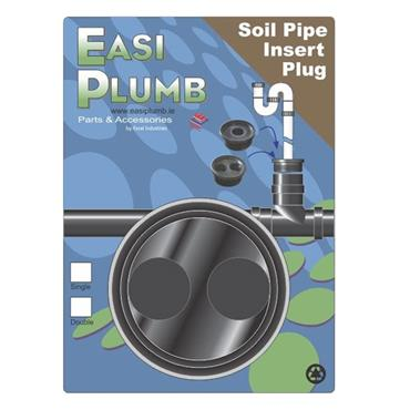 4'' RUBBER PLUG DOUBLE INLET