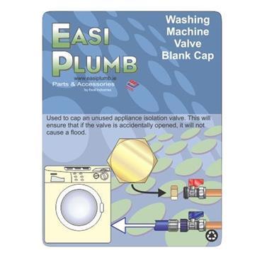 WASHING MACHINE VALVE BLANK CAP
