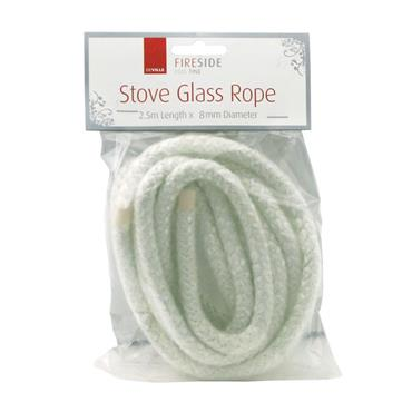 STOVE GLASS ROPE 2.5M X 8MM