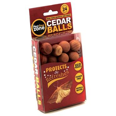 Pest Free Zone Moth Repeller Cedar Balls 24 Pack | HEDPFZ208