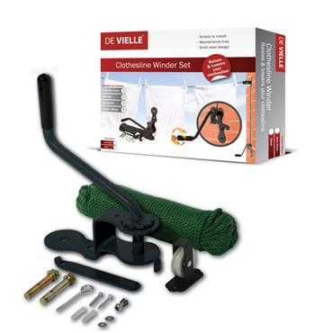 DE VIELLE CLOTHESLINE WINDER SET