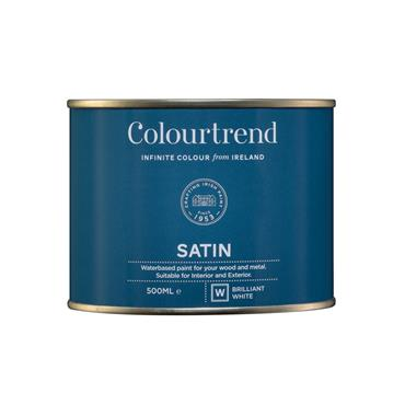 Colourtrend 500ml Water Based Satinwood - White | M01018