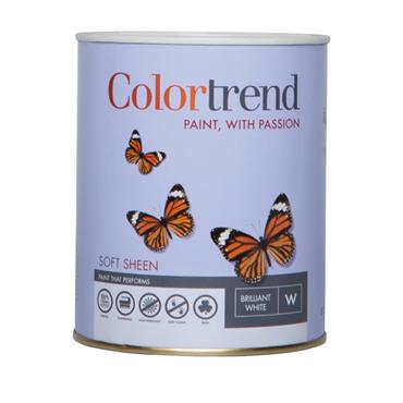 Colourtrend 1 Litre Soft Sheen - White | M00827
