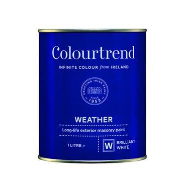 Colourtrend 1 Litre Weather Masonry Paint - White   M01103