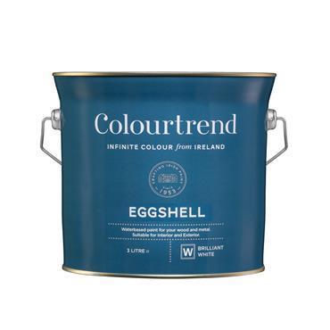 Colourtrend 3 Litre Eggshell - White | M01652