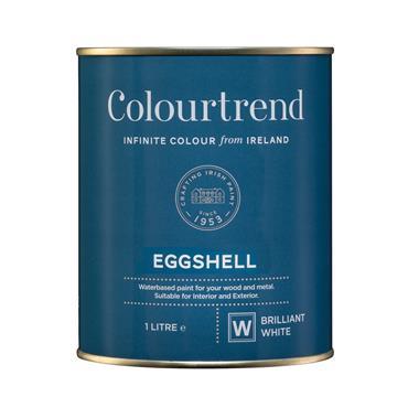 Colourtrend 1 Litre Eggshell - White | M01659