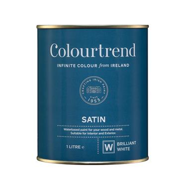 Colourtrend 1 Litre Water Based Satinwood - White | M01014