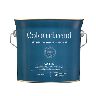 Colourtrend 3 Litre Water Based Satinwood - White | M01015