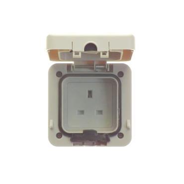 Powermaster 1 Gang Single Outdoor Scoket IP66 | 1709-12