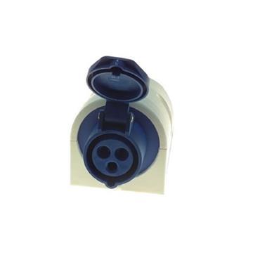 Powermaster 220V 16 Amp 2 Pin + Earth Socket Blue | 1523-30