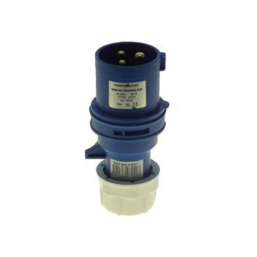 Powermaster 220V 16 Amp 2 Pin + Earth Blue Plug | 1523-32