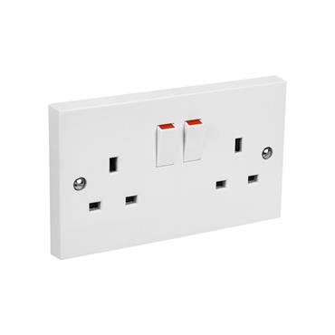 Powermaster 2 Gang Double Switched Socket | 1434-10
