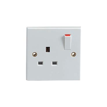 Powermaster 1 Gang Switched Single Socket | 1434-18