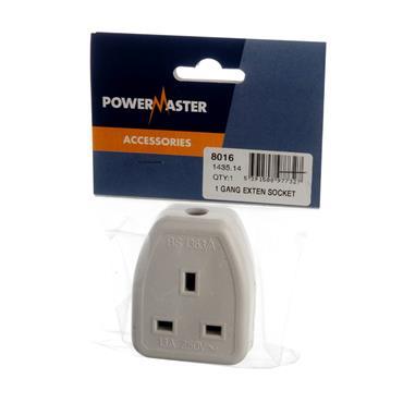 Powermaster 1 Gang 13 Amp Extension Socket | 1435-14