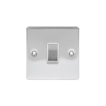 Powermaster Brushed Satin 1 Gang 2 Way 10 Amp Light Switch | 1738-14