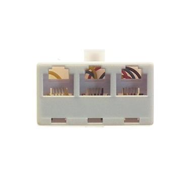 Powermaster RJ11 Telephone Phone 3 way Splitter Adaptor | 1370-02