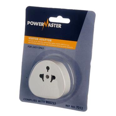 Powermaster Visitor Adaptor 2 Pin to 3 Pin Adaptor | 1378-30