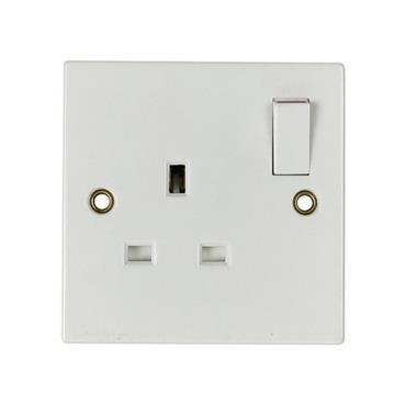 Powermaster 1 Gang 13 Amp Switched Single Socket | 1384-06