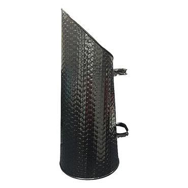 De Vielle Basket Weave Coal Hod - Black | DEF974090