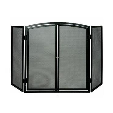 De Vielle 3 Panel Firescreen Fireguard Sparkgaurd With Doors   Def977909