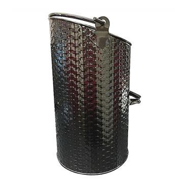De Vielle Basket Weave Ellipse Hod - Black | DEF977985