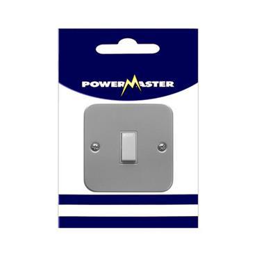 Powermaster 1 Gang 2 Way Single Metal Switch and Box   1798-06