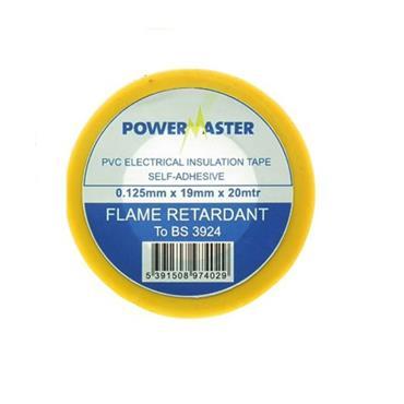 Powermaster 19mm Insulating Tape 20 Metre - Yellow | 1799-20