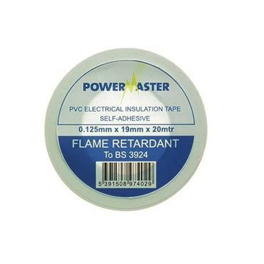 Powermaster 19mm Insulating Tape 20 Metre - White | 1799-22