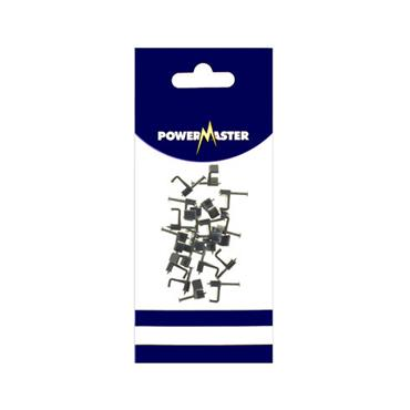 Powermaster 2.5 Sq T & E Cable Clips - Grey 20 Pack | 1797-08