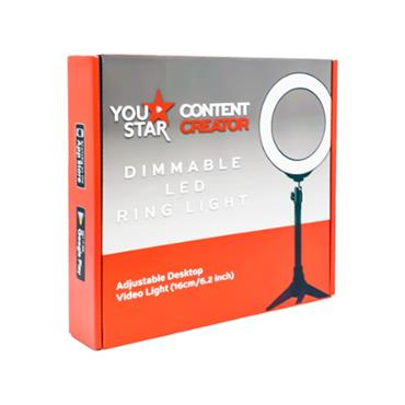 You Star Content Creator 16cm Dimmable LED Ring Light - Black | YS2160