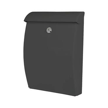 De Vielle Abs Plastic All Weather Post Box Letter Box Grey | DEV964712