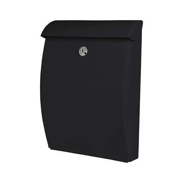 De Vielle Abs Plastic All Weather Post Box Letter Box - Black | Dev964712