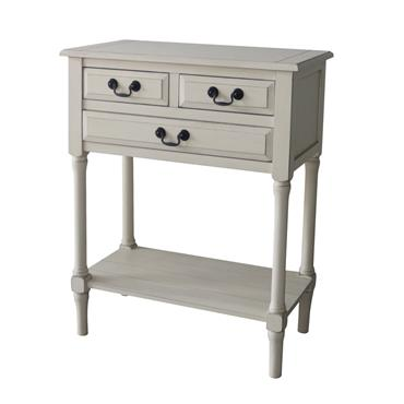 Home Inspirations Antique Cream 2+1 Console Table | FUR966150