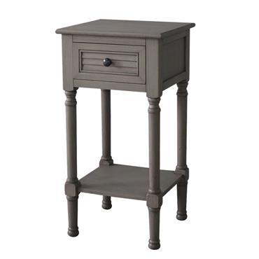Home Inspirations Savannah Grey One Drawer Hall Table With Shelf | FUR966204