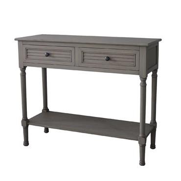 Home Inspirations Savannah Grey Two Drawer Console Table | FUR966211