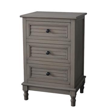 Home Inspirations Savannah Grey Three Drawer Bedside Locker | FUR966228