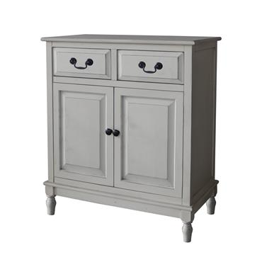 Home Inspirations Antique Cream Two Drawer Two Door Cabinet | FUR966235