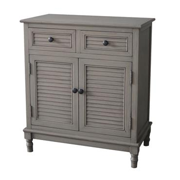Home Inspirations Savannah Grey Two Drawer Two Door Cabinet | FUR966242