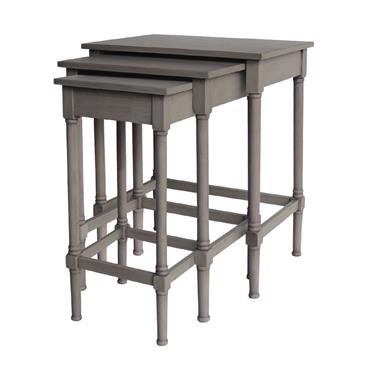 Home Inspirations Savannah Grey Nest of Three Tables | FUR966259