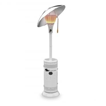 Sahara 15kw Heat Focus Gas Patio Garden Heater - White | 15KWIR-WT