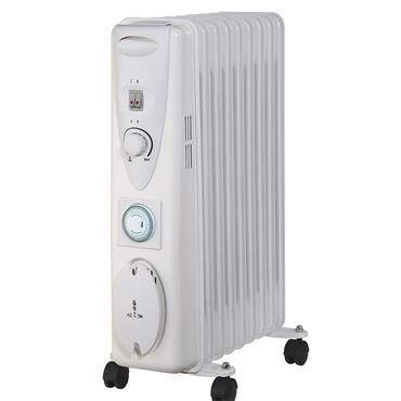 Sirocco Premium 2kw 9 Fin Oil Filled Electric Radiator | 160659