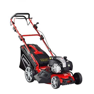 "World Self Propelled Battery Start 18"" Lawnmower 150cc 