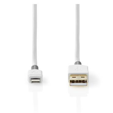 Nedis 2 Metre Lighting Aplle Iphone Charging Cable Gold Plated
