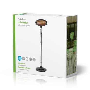 Nedis 2kw Free Standing Electric Patio Heater 190cm | HTPA120EBK