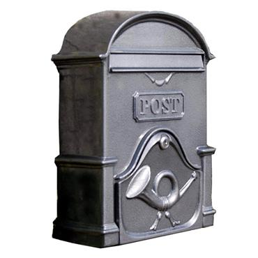 The Moy A4 Deep Antique Silver letterbox