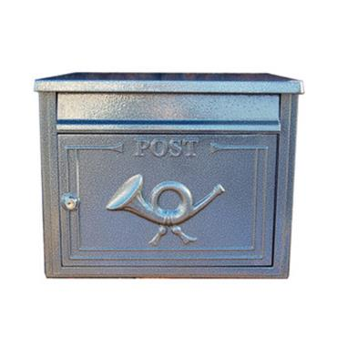 The Liffey Built-In Cast Aluminium Letterbox Postbox - Antique Silver