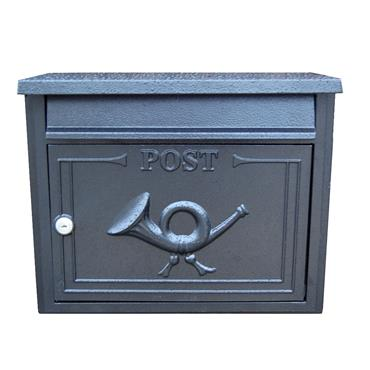THE LIFFEY BUILT-IN GRAPHITE BLACK LETTERBOX