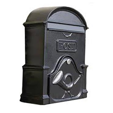 THE MOY A4 DEEP GRAPHITE BLACK LETTERBOX
